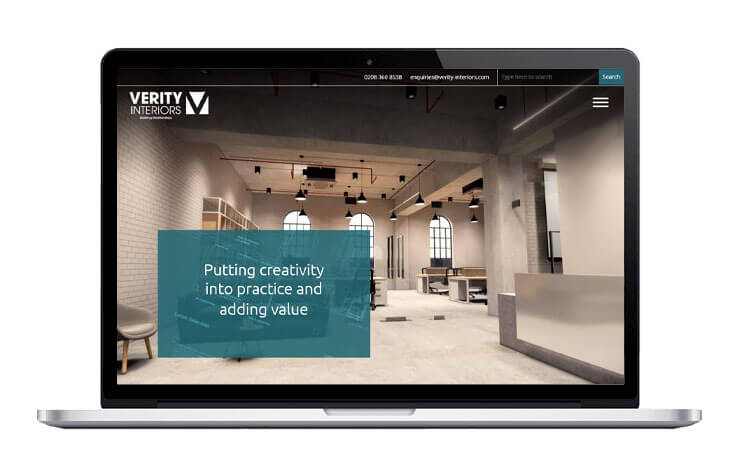 Verity Interiors Responsive Website Design & Build